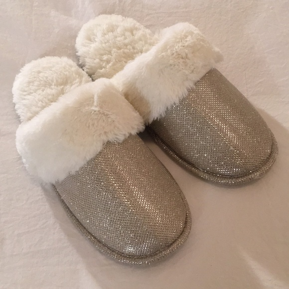 2b81a50c4f0 INC International Concepts Shoes - INC - Brand New Metallic Gold Faux Fur  Slippers